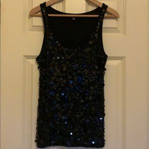 DKNY Tank Top Sequins Black
